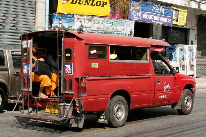 清迈市区交通双条车