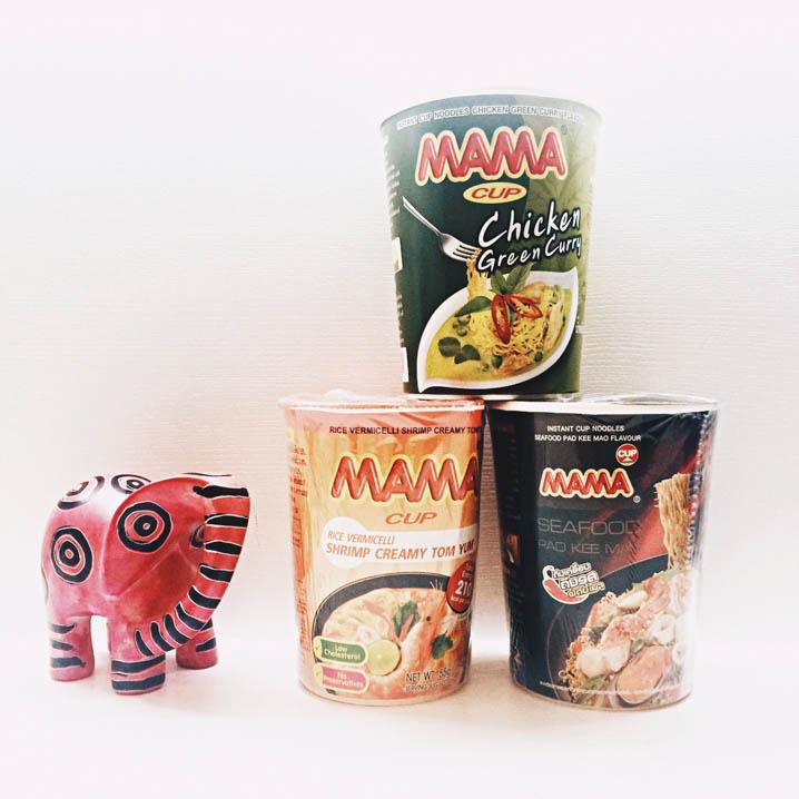 泰国MAMA泡面四款经典口味测评