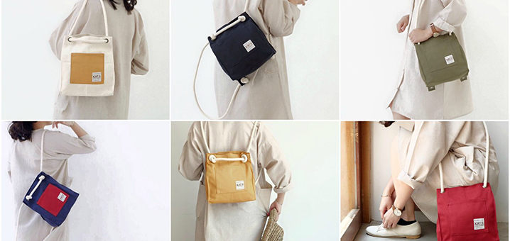 KATJI,泰国原创的百搭小清新多用帆布包