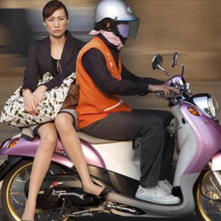 曼谷的摩托车