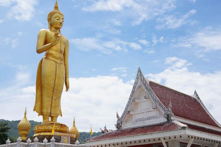 Standing Golden Buddha Temple