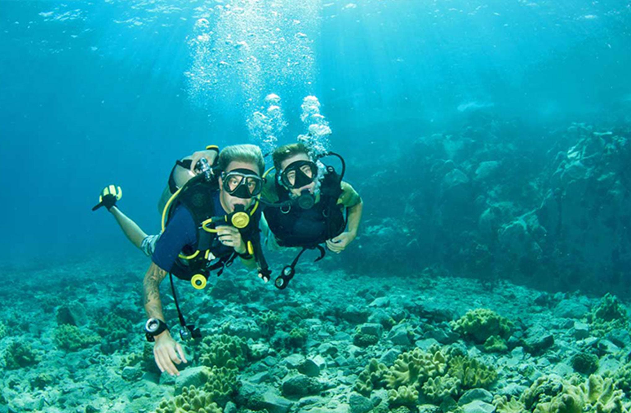 浅浮面罩和呼吸管