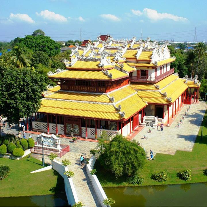 邦芭茵夏宫,大城绝美的欧式宫殿