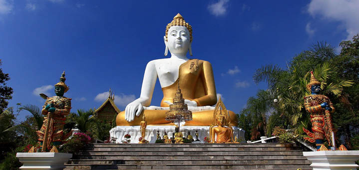 带着茉莉花去清迈来康佛寺为好友祈福