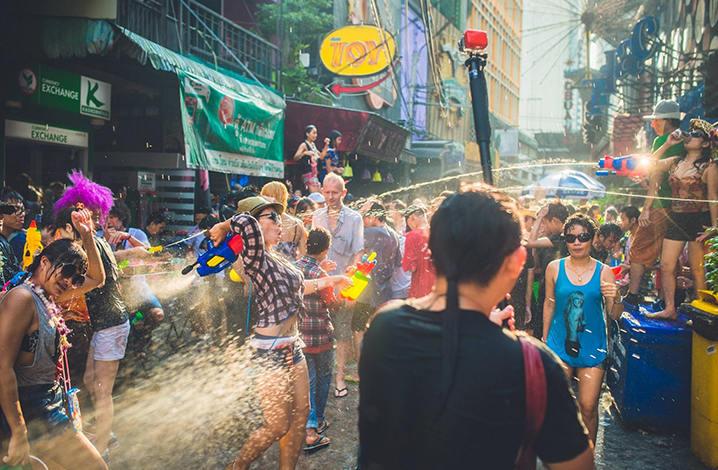 北碧泰国泼水节