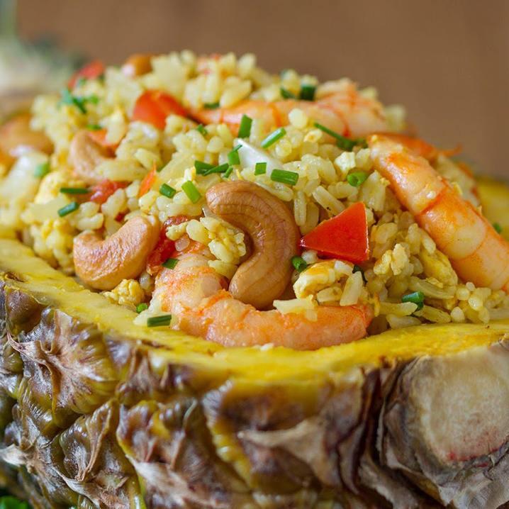 泰式咖喱菠萝炒饭和咖喱虾做法