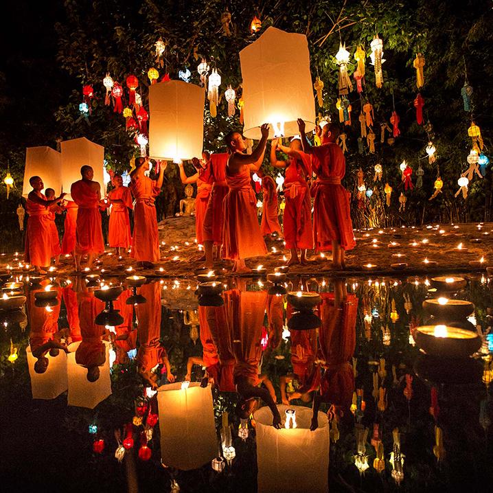 泰国水灯节就要到了,一起来放水灯祈福吧!