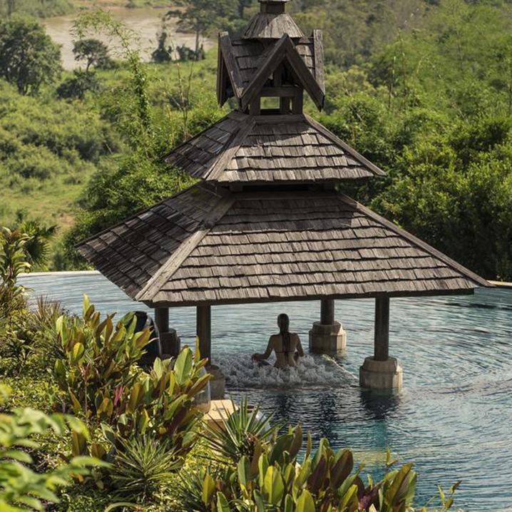 清莱金三角象营安纳塔拉度假村,这里充满了欢歌笑语