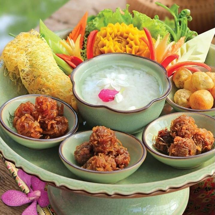 香冰泡饭,也是非常精致的一道泰国菜