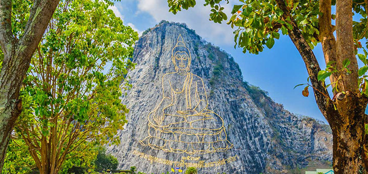 芭提雅七珍佛刻山 (Khao Chi Chan Buddha Mountain Pattaya)旅游攻略