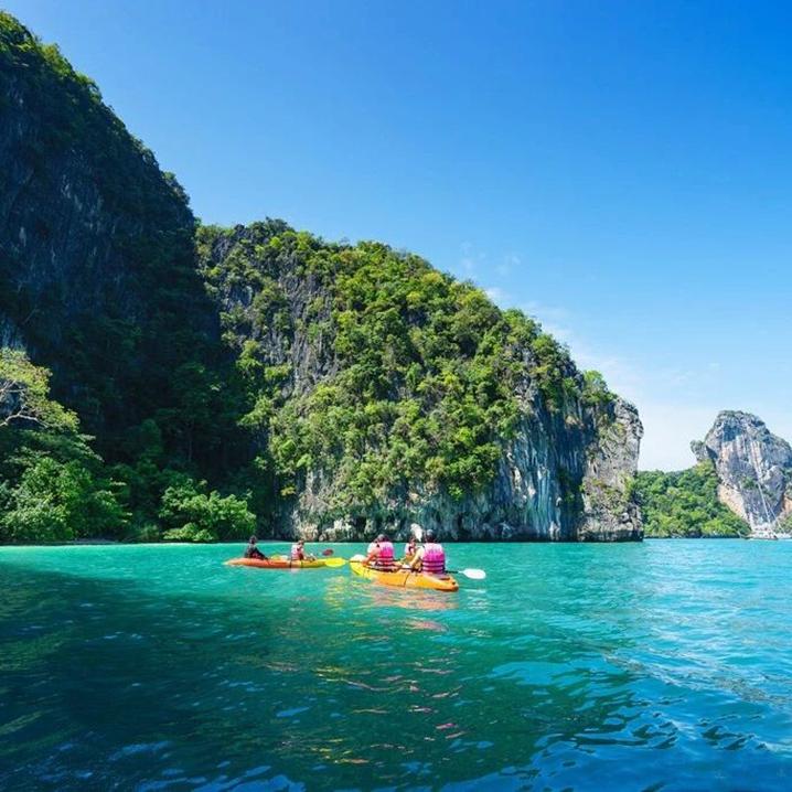 甲米宏岛,皮划艇、浮潜看鱼,我在等你