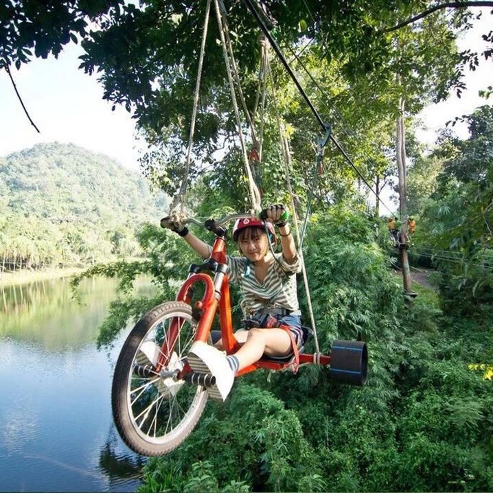 甲米树顶大冒险,户外运动还可以这样玩