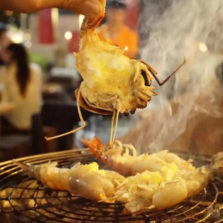 曼谷Taikong Seafood餐厅 流水虾现捞现烤自助,饕餮盛宴来袭