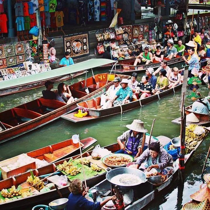 曼谷完爆一众水上市场的 khlong lad mayom floating market