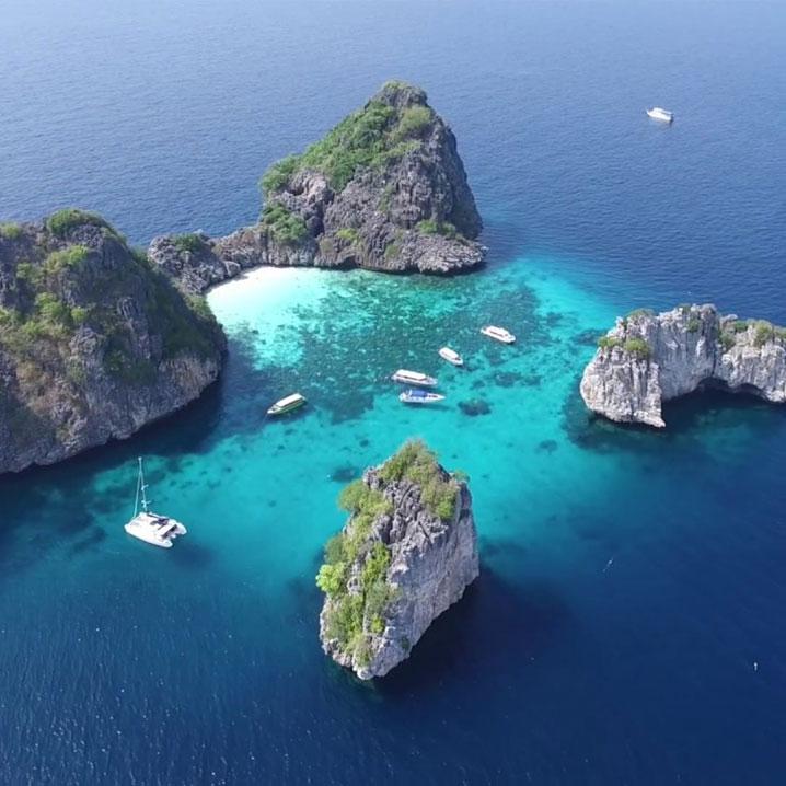 泰国洛克岛一日游,隐于深海之中的原生态美丽海岛