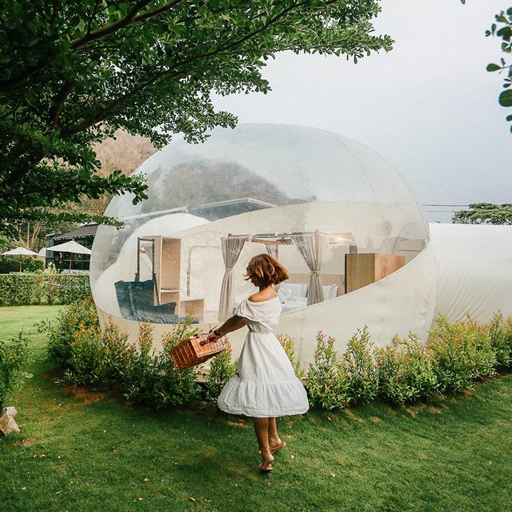 泰国首家泡泡酒店Casa De Montana,隐藏在考艾的花园中