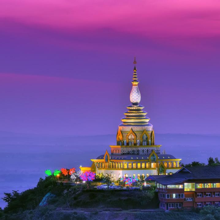 清迈那些最值得去的佛教寺庙中,一定少不了Wat Thaton寺庙