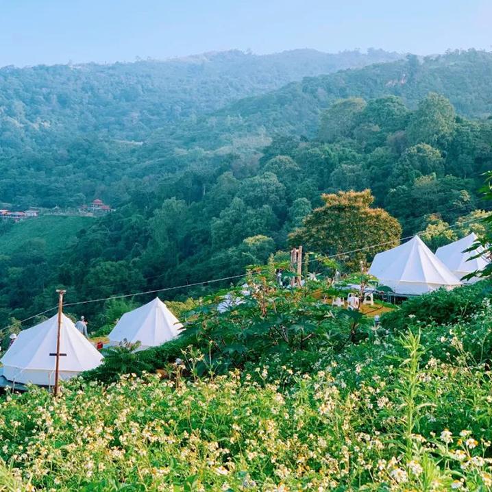 泰国去清莱指天山露营,可以看到东南亚最美的日出